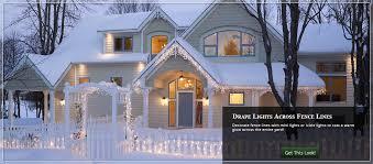 christmas lighting ideas outdoor. illuminate fence lines with christmas lights lighting ideas outdoor