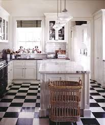 Perfect Black And White Tile Floor Kitchen Carrera Counters With Floors 5 Decor