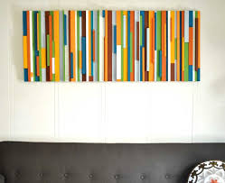 decorations amazing colorful stripes home wall art ideas and
