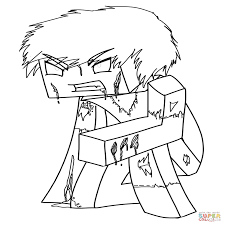 Minecraft Coloring Pages Of Herobrine Minecraft Coloring