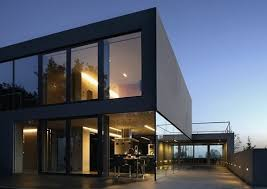 modern architectural house. 12 Modern House With Black Exteriors: Aatrial By Polish Firm KWK Promes Architects Is Architectural