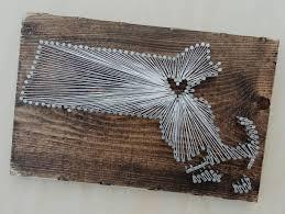 Massachusetts String Art State string Art Massachusetts Nail