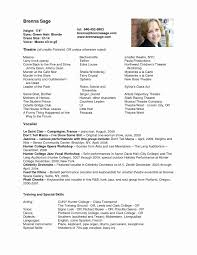 Musical Theatre Resume Template Lovely Actor Resume Template Best