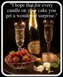 8 Happy Birthday Cakes And Champagne With Flowers And Candle Photo