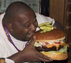 Image result for an obese african man