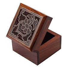 image unavailable image not available for color fine craft india wooden ring jewelry box