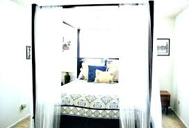 how to make canopy bed curtains