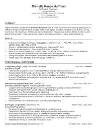 Resume Software Engineer Best Resume For Experienced Software Engineer Ooxxoo Co