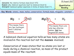 new aqa gcse trilogy chemistry balancing equations and formula mass by racheltromans teaching resources tes