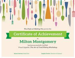 Cooking Certificate Template Beauteous Customize 48 Achievement Certificate Templates Online Canva