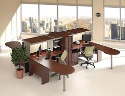 interior design for office furniture. Smart And Exciting Office Cubicles Design Ideas For Your Inspiration : Cozy Wooden L Shape Cubicle Workstation Desk With Modern Cabinet . Interior Furniture