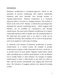 behavior modification reinforcement behavior modification