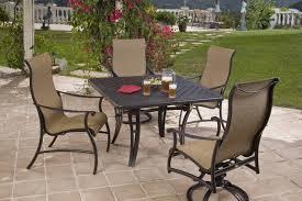 mallin patio furniture seville sling collection alkar billiards bar stools hot tubs on cast aluminum patio