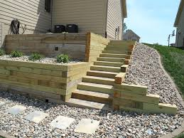 build landscape timber retaining wall