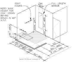 Standard Coat Rack Height Fitting Rooms California ADA Compliance 98