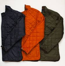 Fall Essentials: Quilted Vests and Jackets   Hickey Freeman Blog & Hickey Freeman Lightweight Quilted Jacket with Suede Detail, $695, in Navy,  Orange, Green and Black (not shown) Adamdwight.com