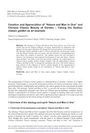 Pdf Creation And Appreciation Of Nature And Man In One And