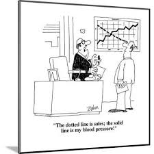 For the vertical line, the x coordinates are both 2. The Dotted Line Is Sales The Solid Line Is My Blood Pressure Cartoon Premium Giclee Print Bob Zahn Allposters Com