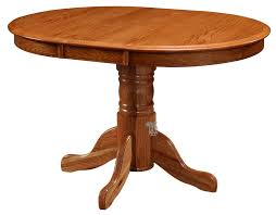 solid oak wood vintage oak wood 36 round extension table in chestnut finish