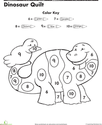 Small Picture Dinosaur Color By Number Number recognition Worksheets and Numbers
