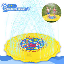 joyfun outdoor toys for kids outdoor pool for toddlers 67 splash pad for boys girls summer water toys sprinkler spray play mat for kids party favor for