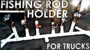 diy pvc fishing rod holder for your truck