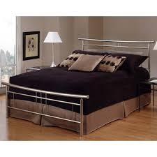Soho Bedroom Furniture Soho Modern Metal Bed In Brushed Nickel By Hillsdale Humble Abode