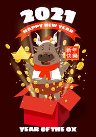 Chinese new year , 2021, happy new year greetings, year of the ox, modern design, colorful, cow, geometry. Happy Chinese 2021 New Year Greeting Card Year Of The Ox Cute Royalty Free Cliparts Vectors And Stock Illustration Image 160950963
