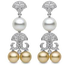 yoko london south sea pearl and diamond chandelier earrings