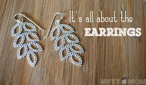 it s all about the earrings with blue nile leaf chandelier earrings