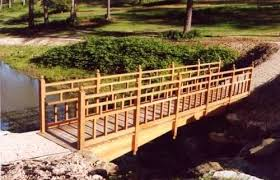 Small Picture Backyard Bridge Plans White Cedar Economy Garden Bridge Painted