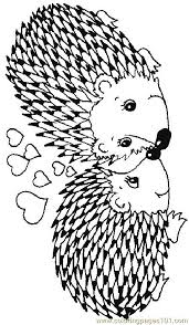 Small Picture Coloring Pages Hedgehog 17 Mammals Hedgehogs free