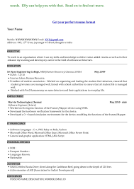 Example Of A Resume Format Resume And Cover Letter Resume And