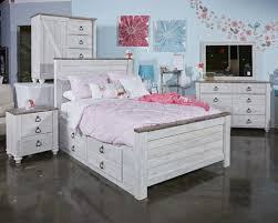 under bed storage furniture. Contemporary Under Willowton  Whitewash Under Bed Storage Throughout Furniture