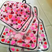 car floor mats for women. Car Floor Mats Women Hearts Universal Carpet Interior Decorative Sets - Red. More Images For