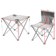 costway portable folding table chairs set outdoor camp beach picnic w carrying bag 1