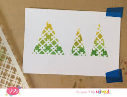 christmas card stencils mudra craft stamps easy holiday cards tutorial