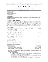 Sample Entry Level Accounting Resume No Experience Free Resume