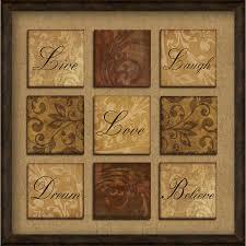 14 x 14 spice inspirational framed  on brown framed wall art with shop 14 x 14 spice inspirational framed wall art at lowes