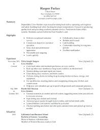 Resume Objective For Food Service Example Resume Fast Food Service