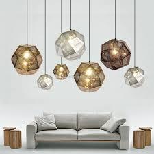 newest art metal ball pendant light geometry bar polyhedral stainless steel personality lamp chandelier globe lighting multi pendant chandelier l27