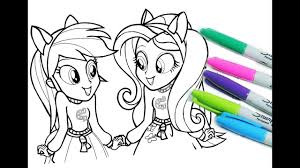 My Little Pony Coloring Pages For Kids Mlp Book Equestria Paper To
