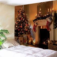 store christmas fireplace printed wall decor tapestry on christmas wall art tapestry with colormix w91 inch l71 inch christmas fireplace printed wall decor