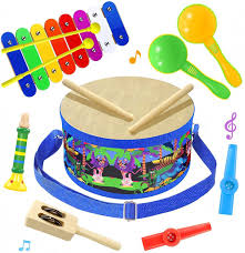 Well you're in luck, because here they come. Amazon Com Smarkids Musical Instruments Music Toys Wood Toddler Kids Drum Set Toys Games