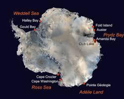 emperor penguin habitat map. Plain Map Map Showing Emperor Penguin Colony Study Locations In Emperor Penguin Habitat H