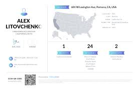 Alex Litovchenko, (909) 629-7118, 601 W Lexington Ave, Pomona, CA ...