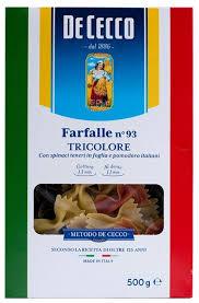 <b>De Cecco Макароны</b> Farfalle n° 93 Tricolore с томатами и ...