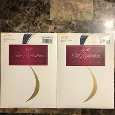 Details About Hanes Silk Reflections Sheer Control Reinforced Pantyhose 718 Ab Denim Lot Of 2