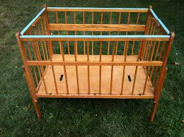 vintage wood portable crib by port a crib