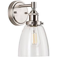 brushed nickel sconces. Contemporary Sconces Fiorentino LED Industrial Wall Sconce U2013 Brushed Nickel W Clear Glass   Linea Di Liara On Sconces 1